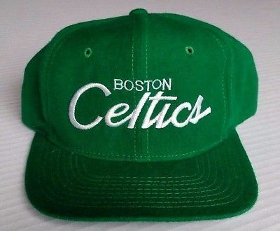 1cbc604c1 Boston Celtics Vintage Snapback Sports Specialties Script Hat NBA The Pro  Cap OG