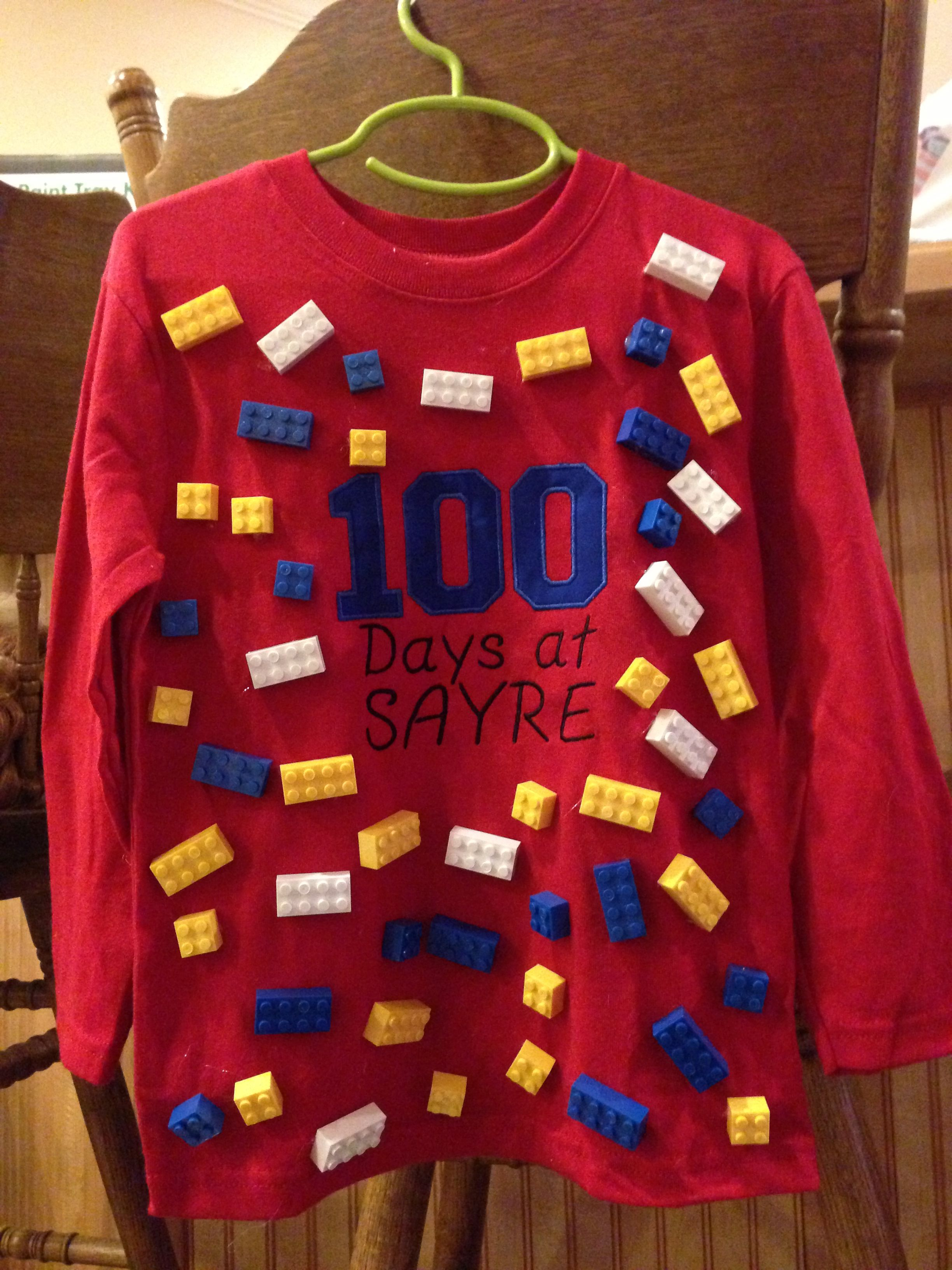 Cute 100th Day Of School Shirt 100 Legos Perfect For Mrs