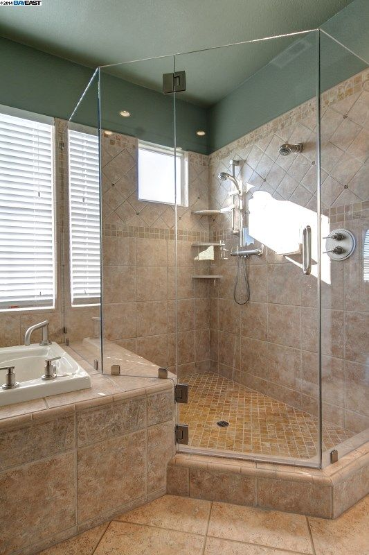 AWESOME idea to extend bathroom shower   bathrooms   Pinterest     AWESOME idea to extend bathroom shower