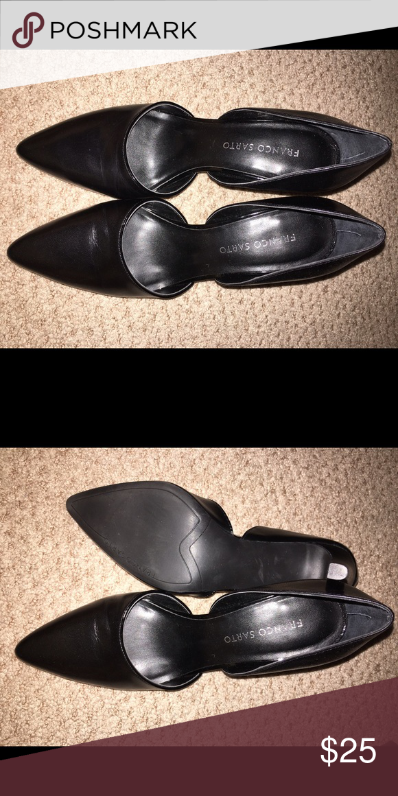 Franco Sarto women's black heels Franco Sarto black women's heels size 8. Never worn. Ran a little larger that expected. More like a 8 1/2 to me. Brand new Franco Sarto Shoes Heels