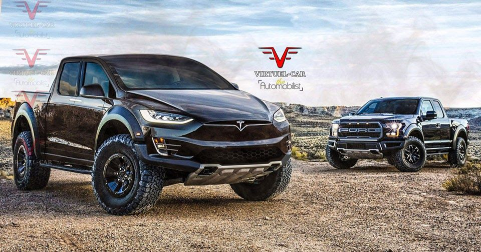 What If Tesla S Pickup Truck Went After The Ford F 150 Raptor Tesla Car Tesla Pickup Tesla Model
