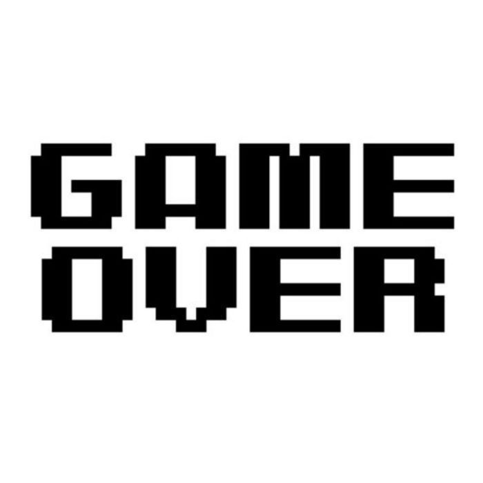 Game Over vinyl sticker decal video car window
