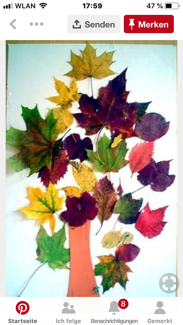 Pin Von Nina Hempel Auf Herbst Basteln Mit Kleinkindern