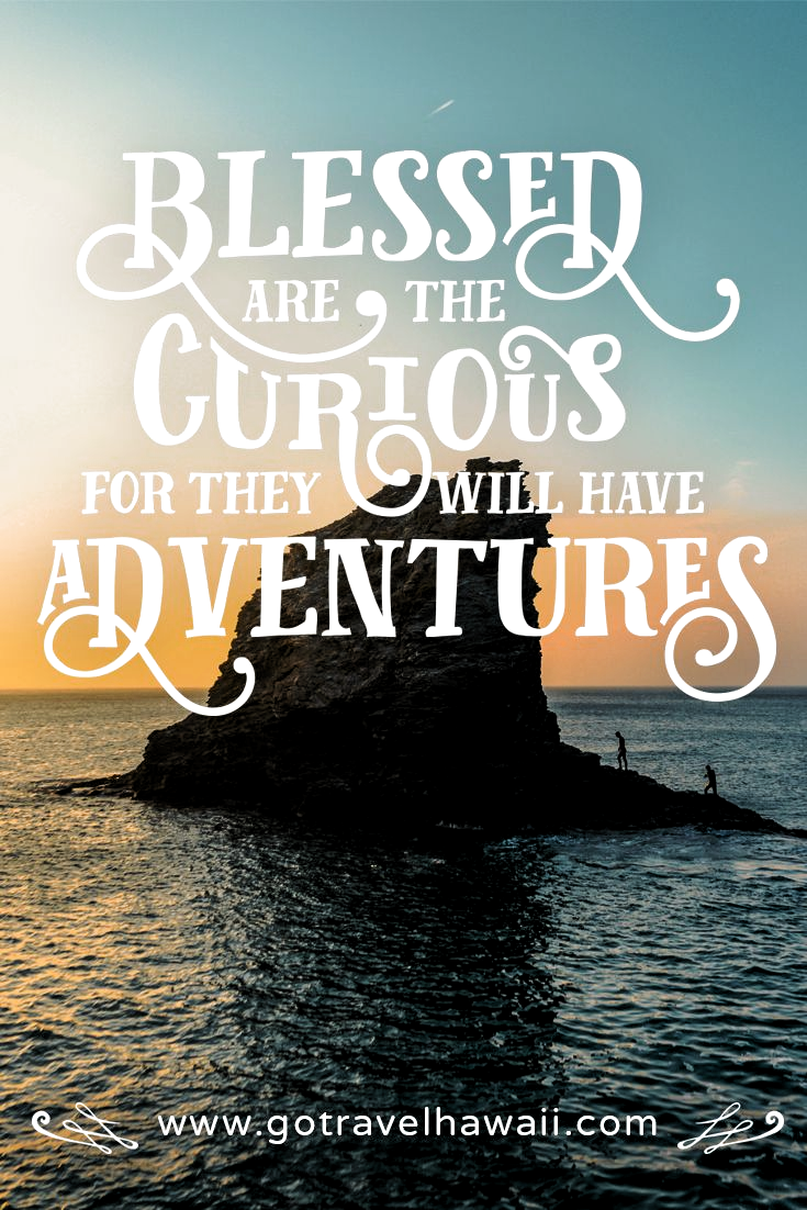 """Blessed are the curious for they will have adventures."" - Inspirational Travel Quote"