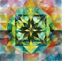 Spring Mandala by Esther Fuldauer
