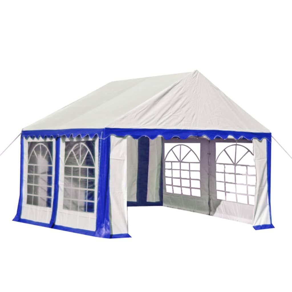 Garden Marquee PVC 3×4 m Blue and White