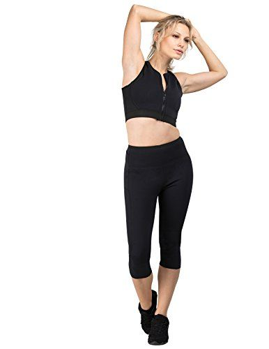 286696fe0f7381 Women s Athletic Leggings - Delfin Spa Womens Heat Maximizing Neoprene  Exercise and Anti Cellulite Capris Regular Plus Sizes   Read more reviews of  the ...