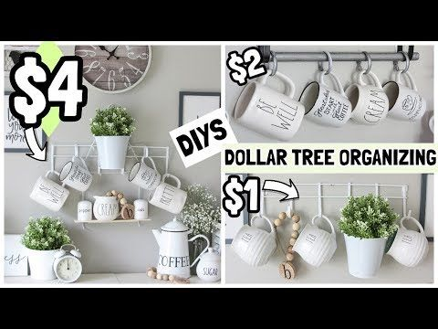 $1-$4 DOLLAR TREE ORGANIZER DIYS