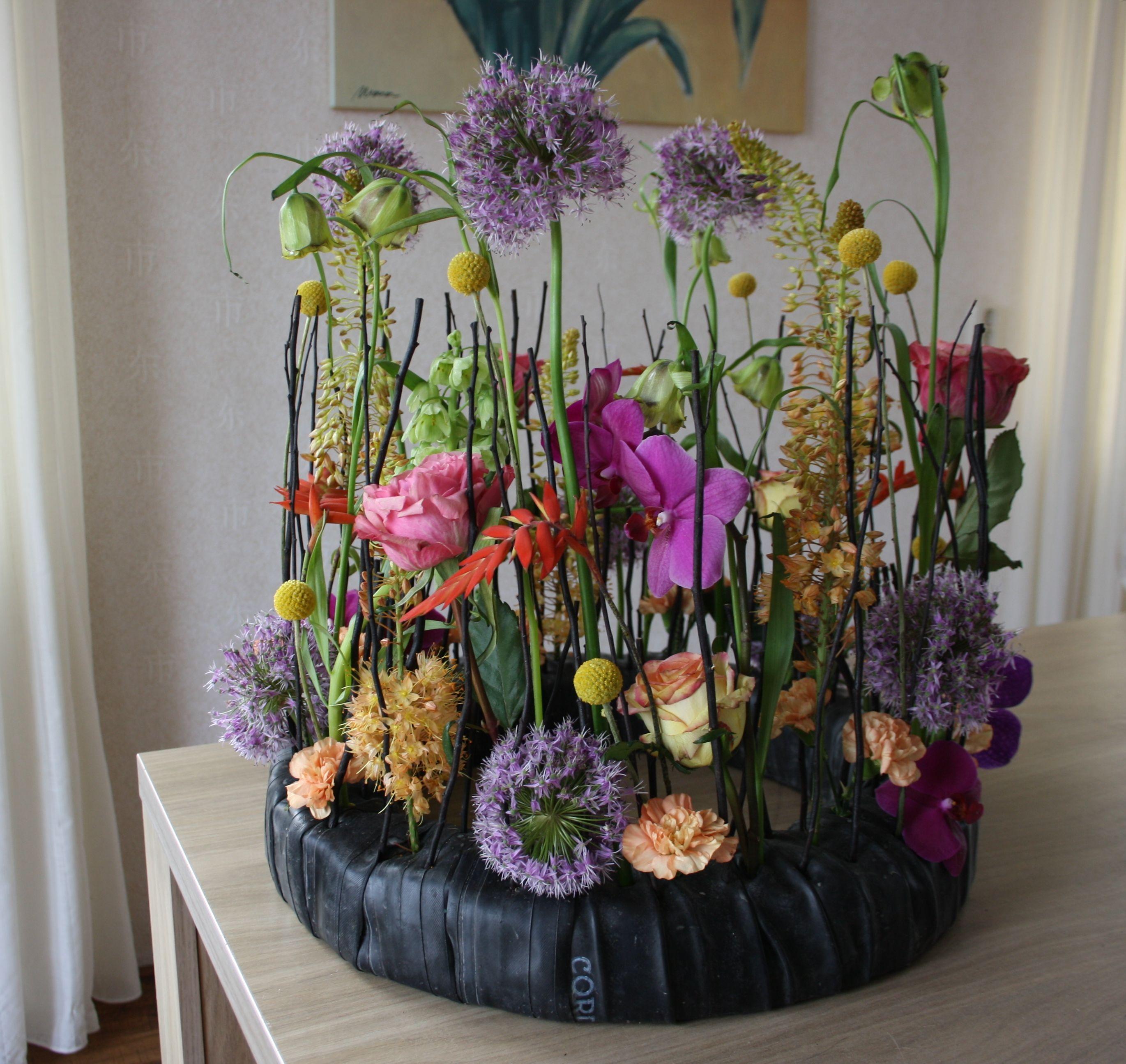 Funeral wreath flower arrangement
