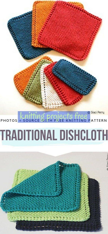 Traditional Dishcloth Free Knitting Pattern ...