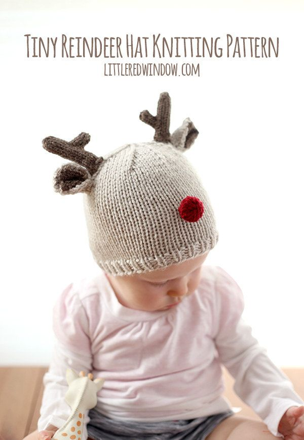 Reindeer Baby Hat KNITTING PATTERN for babies & toddlers / Christmas ...