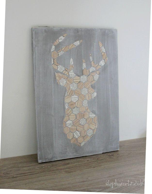 DIY un cadre bois et ciment + des cadeaux TOP WOOD à gagner Tricot