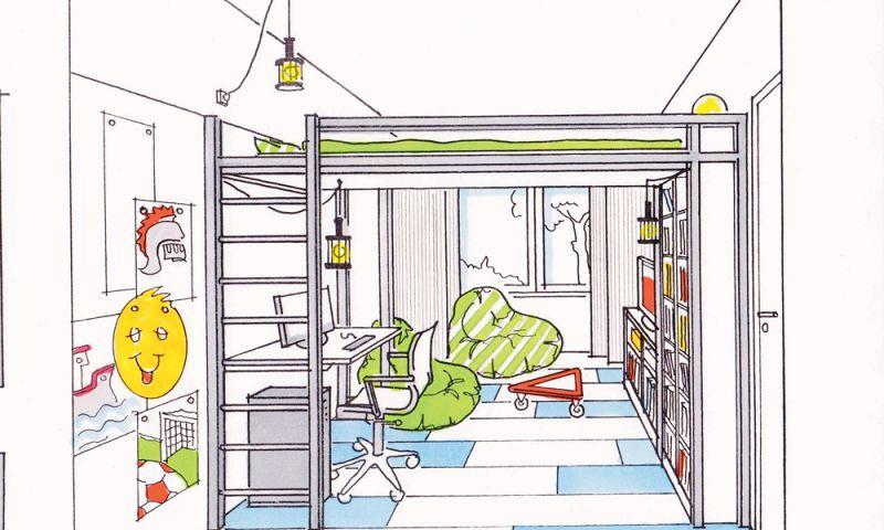 Schmale Räume richtig gestalten Kinder zimmer, Zimmer