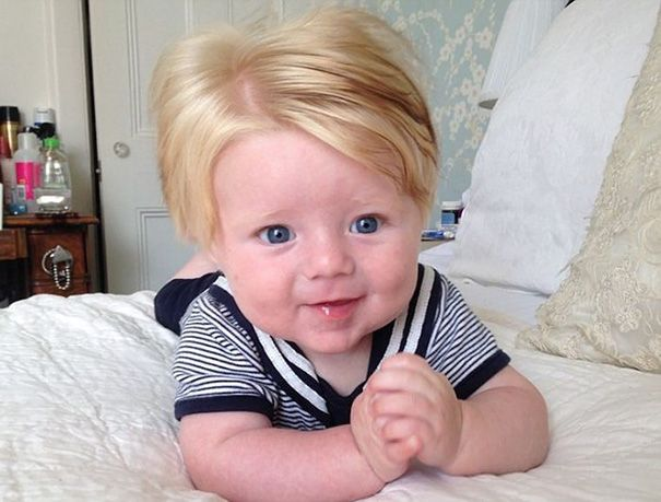 Parents Share Pics Of Babies Born With Full Heads Of Hair 15 Pics Baby Hairstyles Cool Hairstyles One Hair