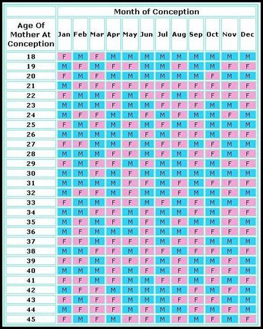 Chinese Calendar Baby Gender Predictor