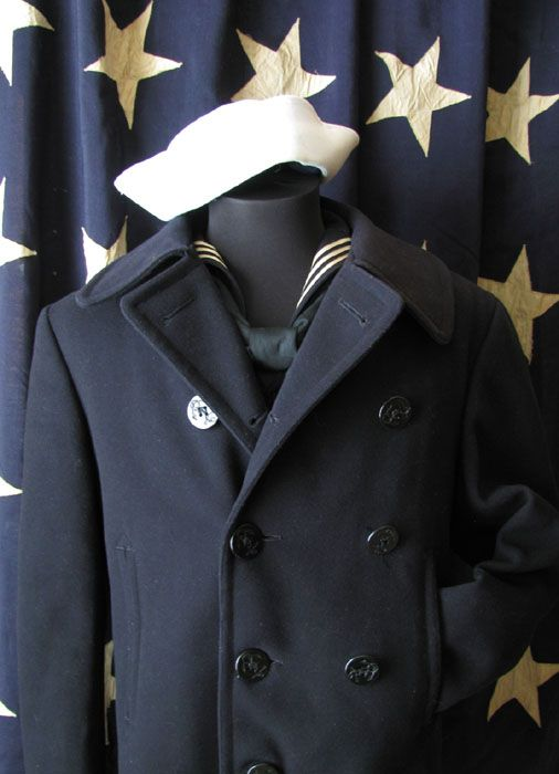 Vintage - navy's pea coat #Peacoat #MotorcycleJacket #Perfecto ...