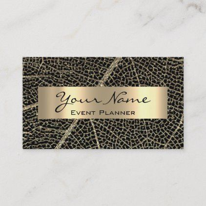 WEDDING MAKEUP ARTIST Black GOLD Appointment Card | Zazzle.com