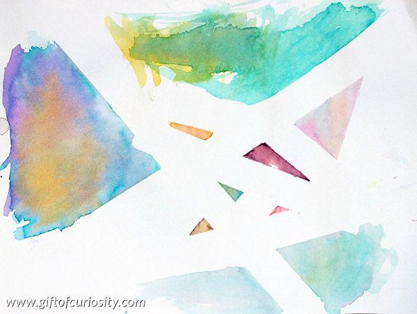 Tape Resist And Crayon Art Painting Crayon Art Watercolor Art