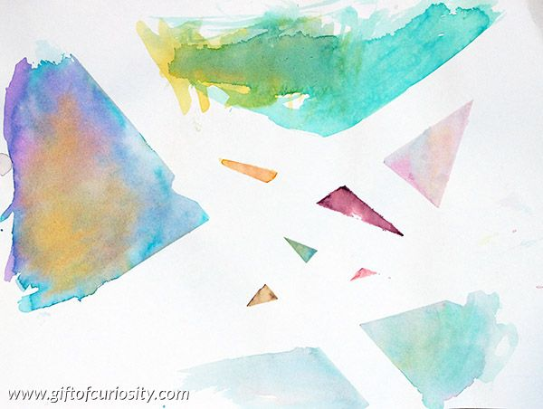 Tape Resist Watercolor Painting Cool Art Projects Watercolor