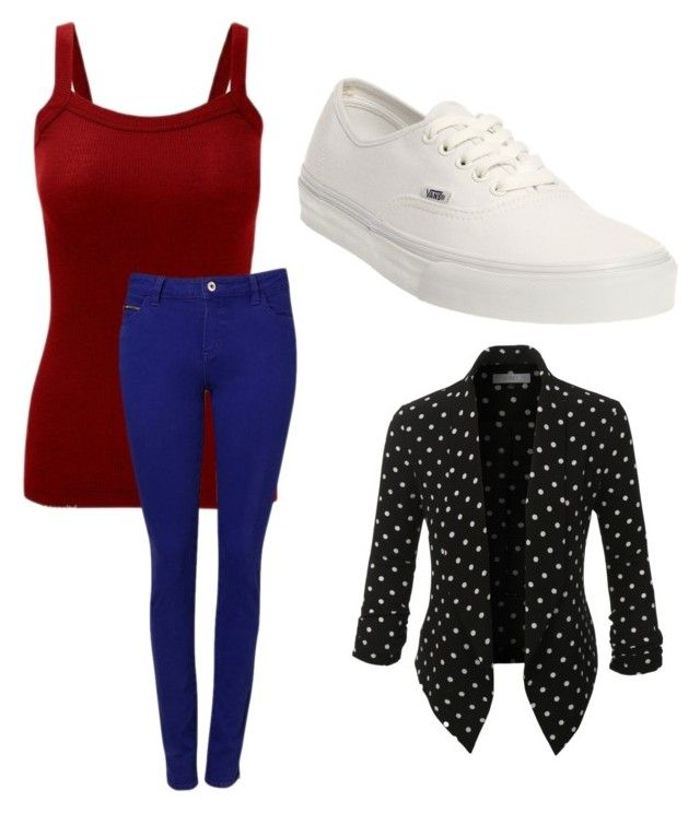 """""""Untitled #1236"""" by ania18018970 on Polyvore featuring Witchery, Vans and LE3NO"""