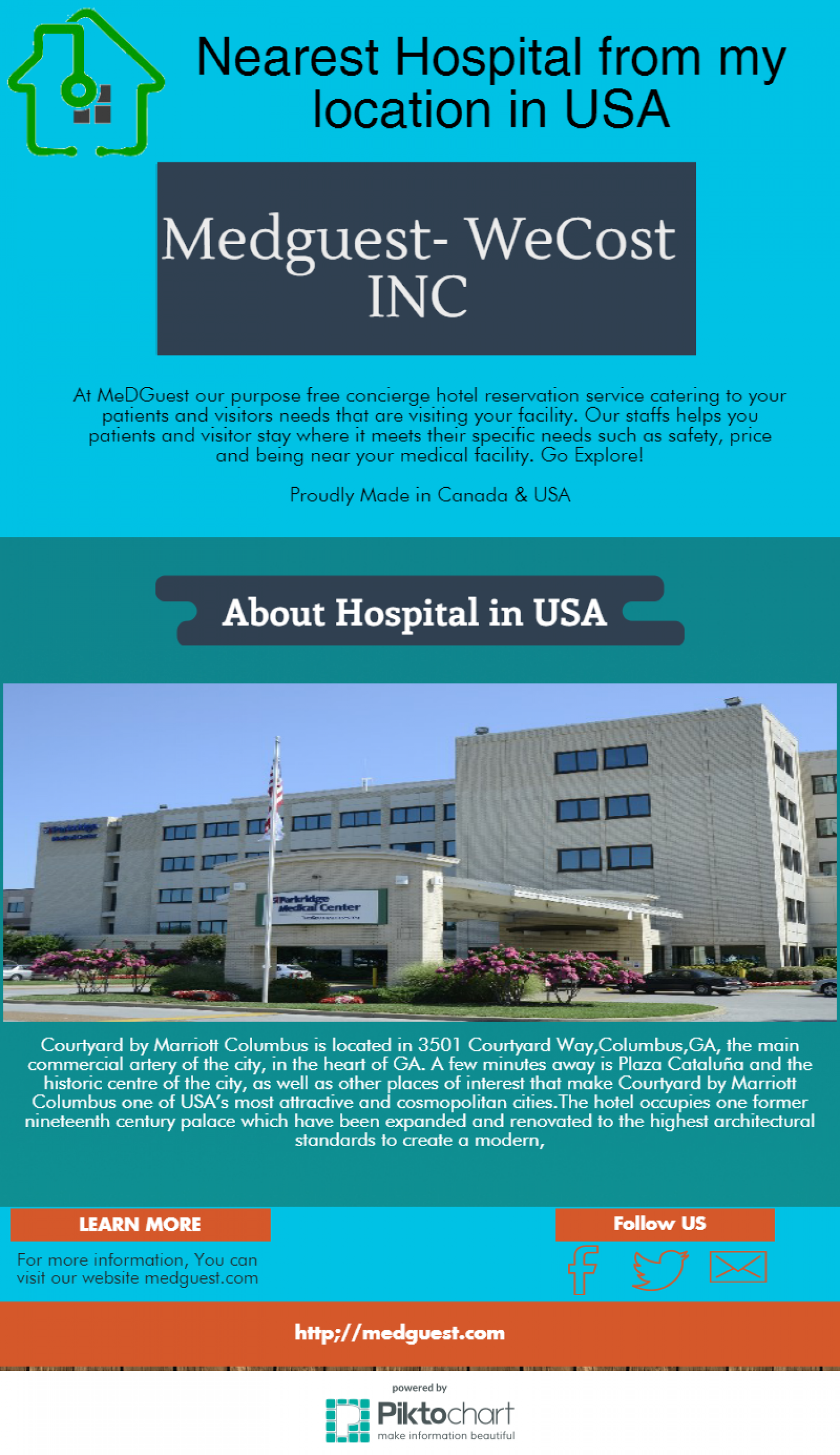 Nearest Hospital From My Location In Usa Infographic Hotels Near The Pinterest Fort Benning