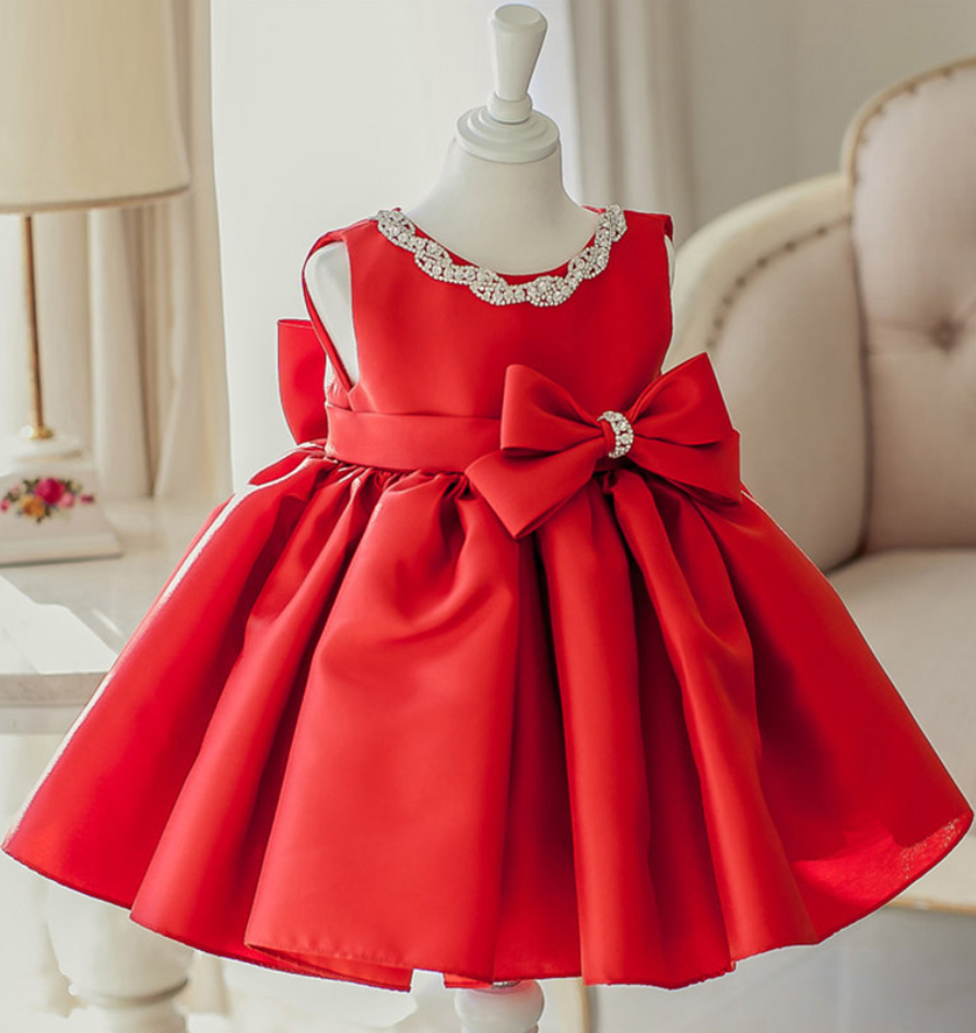 Flower Girl Dress Red Flower Girl Dress Red Christmas Dress Red Baby Girl Birthday Dress Red Bridesmaid Dress Red Fluffy Party Dress Satin Dress Red Baby Red Flower Girl Dresses [ 945 x 893 Pixel ]