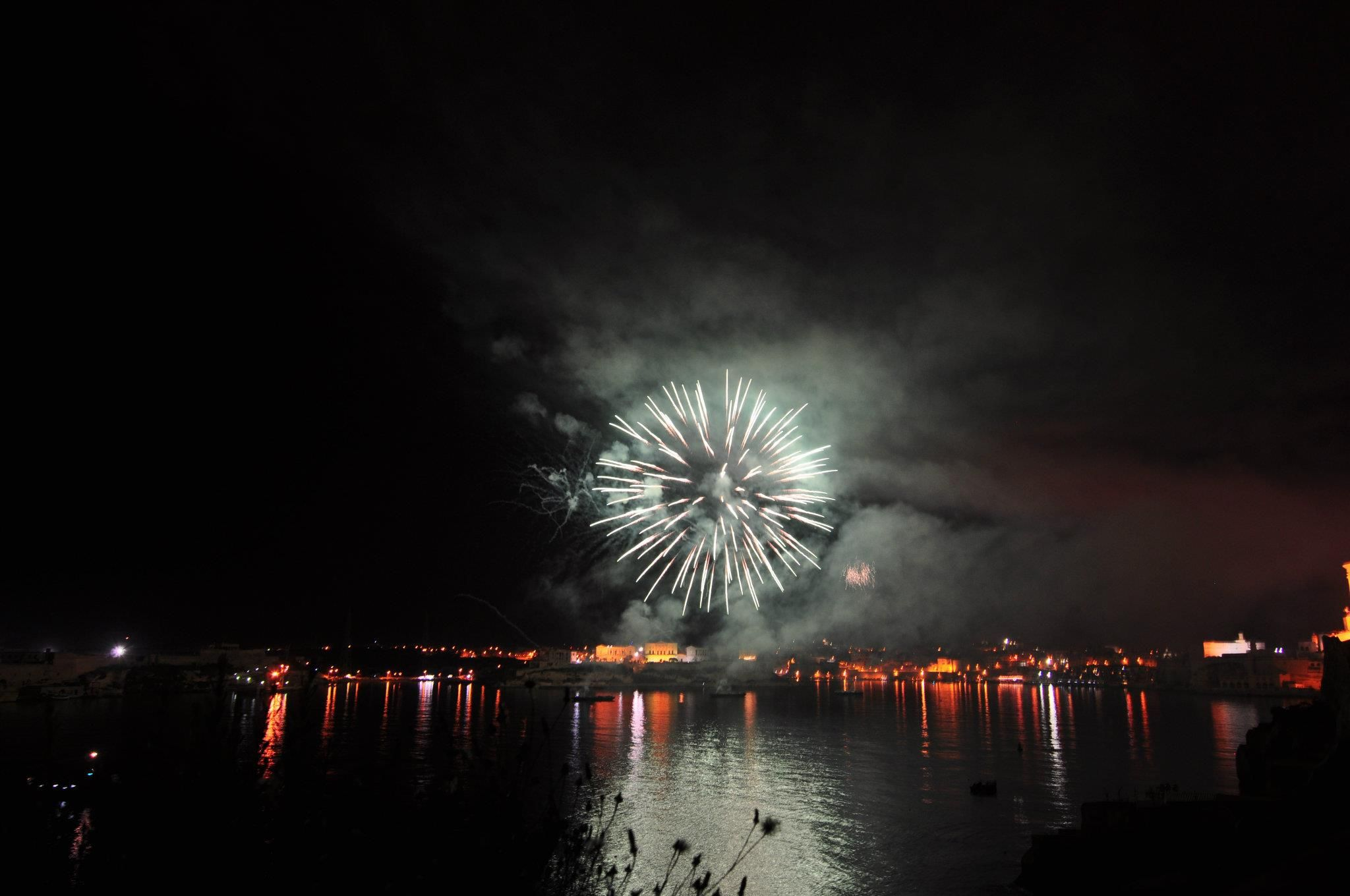 Pyromusical display by Phoenix Fireworks of the UK. — at