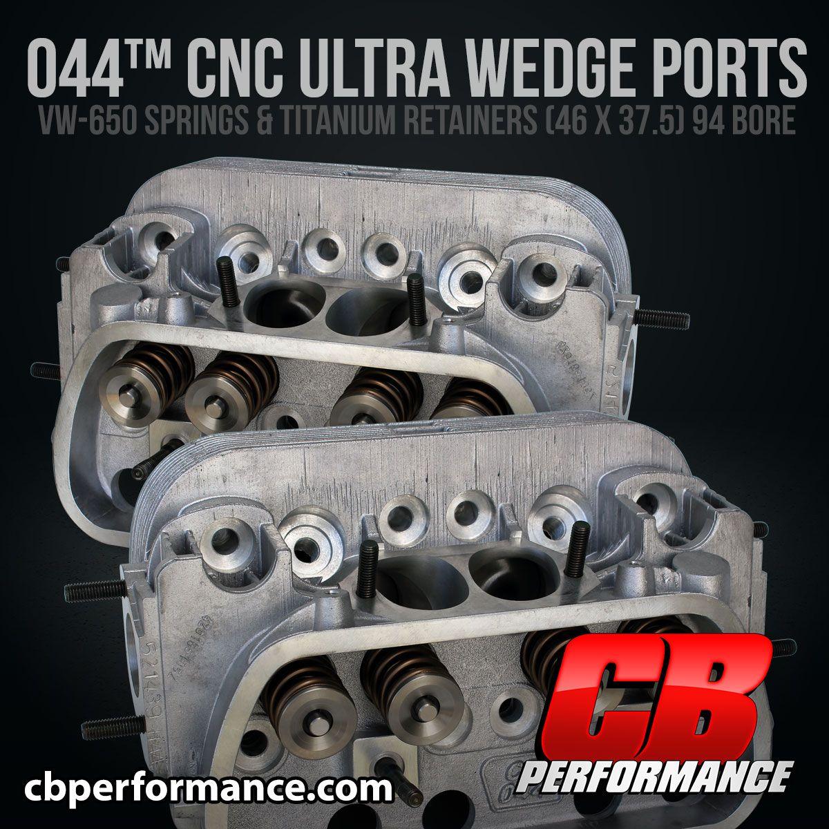1409 044™ CNC Ultra Wedge Ports - VW650 Valve Springs & Titanium