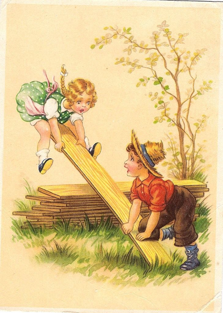 Немецкие открытки с детьми