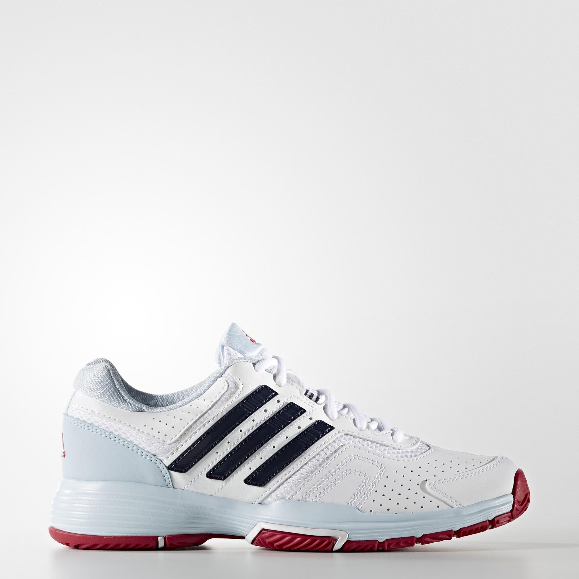 innovative design e69b5 23595 Adidas Womens Barricade Court 2.0 Tennis Shoes - White - Tennisnuts.com