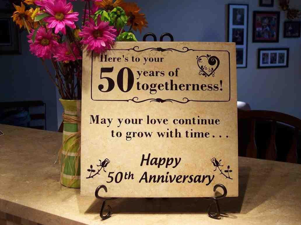 50 Year Wedding Anniversary Gift Ideas