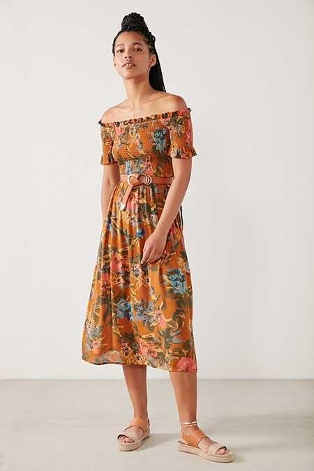 3721557b2 Kimchi Blue Off-The-Shoulder Smocked Dress | style | Dresses, Smock ...