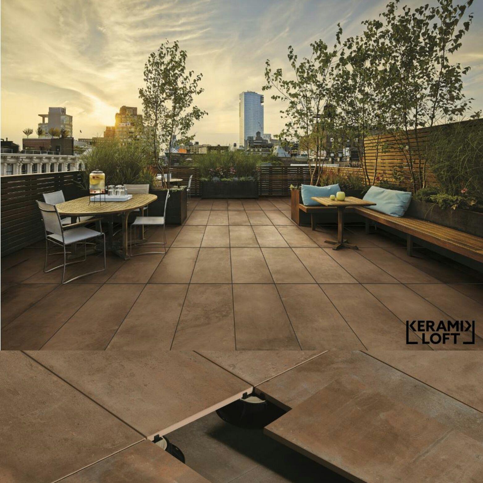 gro formatige terrassenplatten keramikfliesen f r den au enbereich mit passenden stelzlagern. Black Bedroom Furniture Sets. Home Design Ideas
