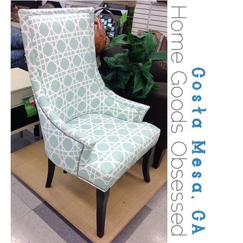 Mint and white cane print high back...yes. Clearance? Yes. $190.00 #homegoodsobsessed