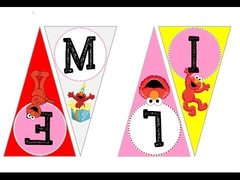 How To Make Custom Elmo Birthday Banner With Images Using Ms Word Learn How To Make This Cute Personalized Elmo Bun Elmo Birthday Birthday Banner Custom Tags