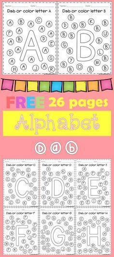 FREE Alphabet Dab (A-Z) | Pinterest | Vorschule, Ausdrucken und ...