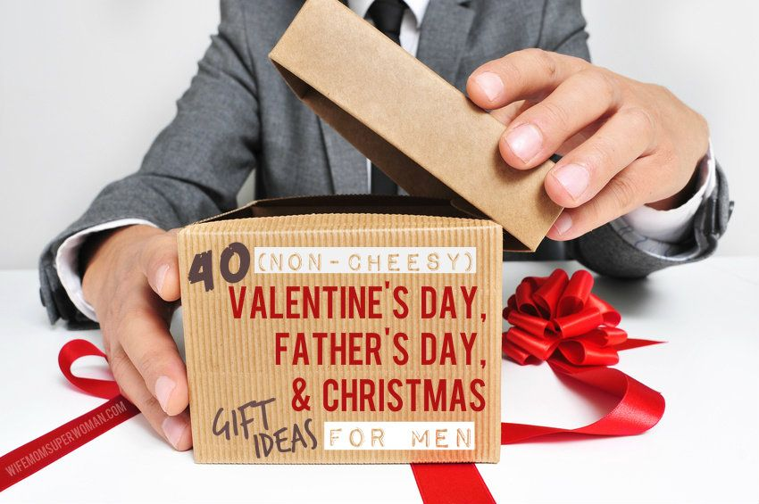 40 (Non-Cheesy) Valentine's Day, Father's Day, & Christmas Gift Ideas for MEN including unique ideas for the: Average Guy, Beer Boy, Pop Culture Junkie, Lover Boy, Workaholic, Old Fart, Outdoorsman, & Gadget Guy! LOVE this list!
