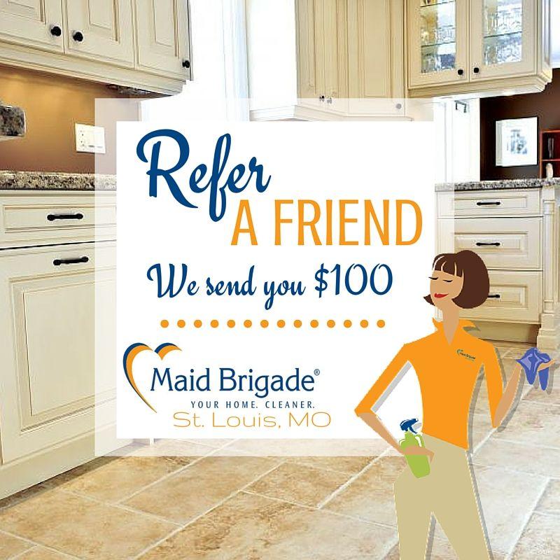 Maid Brigade St. Louis, MO Referral Program House