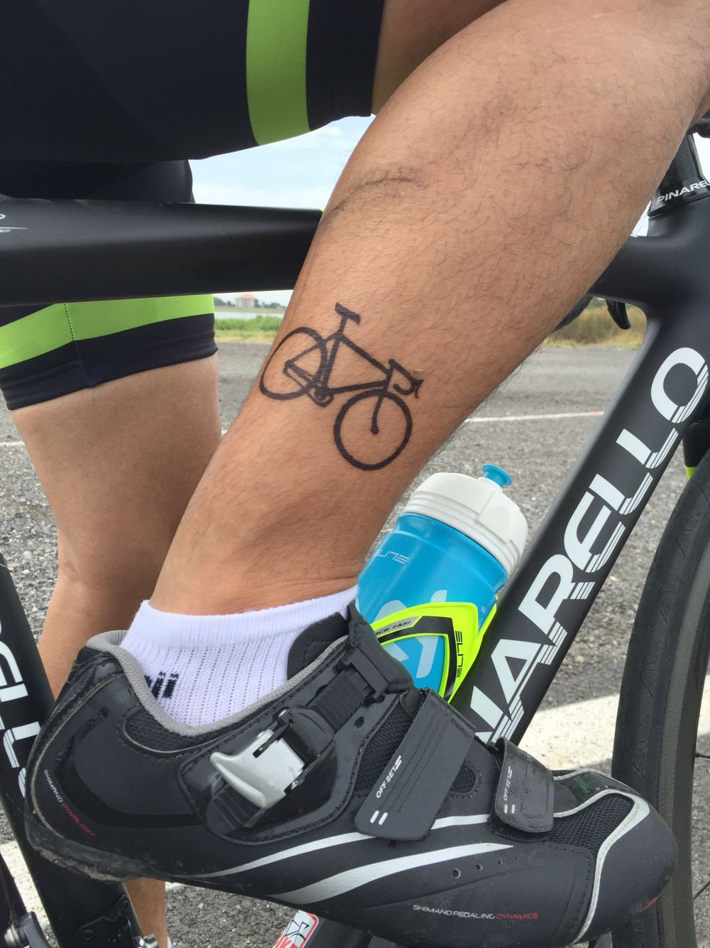 Bike Tattoo Makes You Stronger Leg Cycling Bicycle