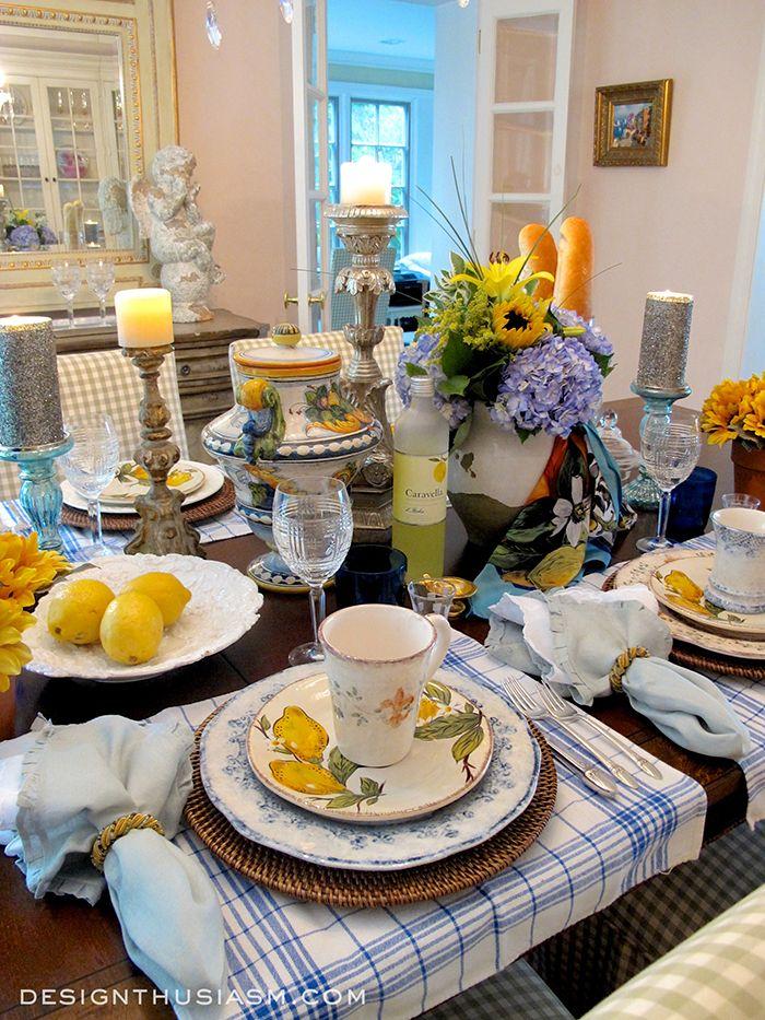 Table Decor Amalfi Inspired Italian Pottery Tablescape Elegant