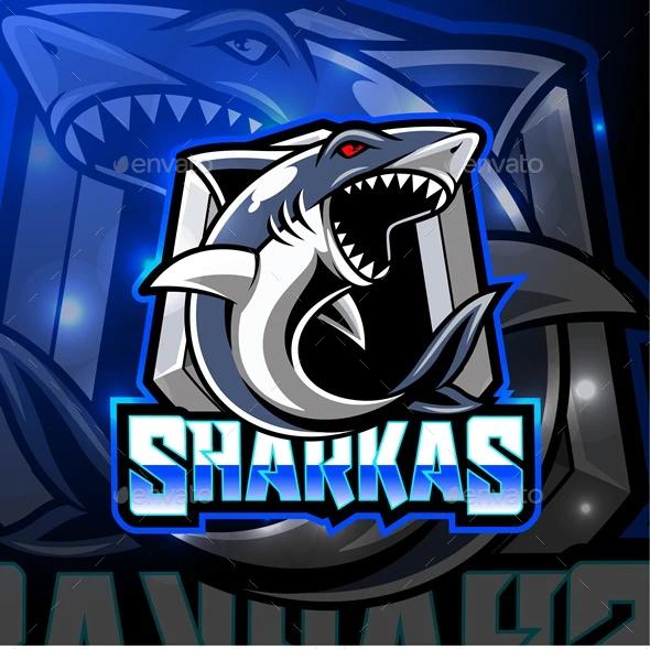Shark Mascot By Visink Graphicriver Shark Mascot Game Logo Design