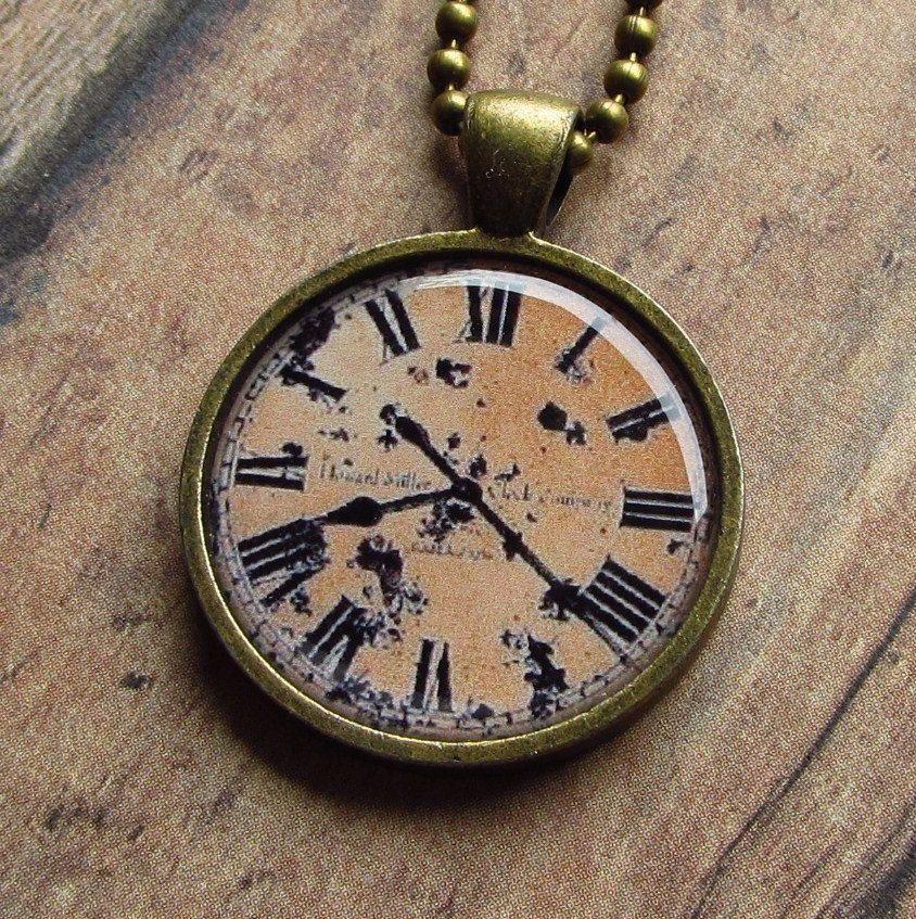 For my bouquet antique clock face pendant necklace p22 1200 antique clock face pendant necklace p22 1200 via aloadofball Choice Image