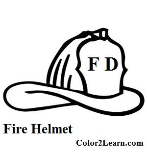 Fire Hat Coloring Page Firefighter Fireman Helmet Fireman Hat