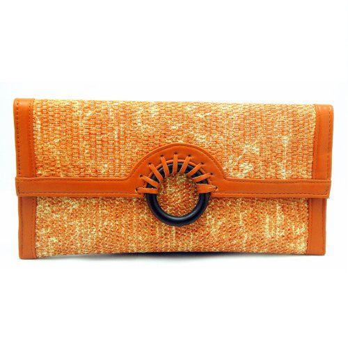 Butterscotch Large Jute Circle Clutch Urban Expressions,