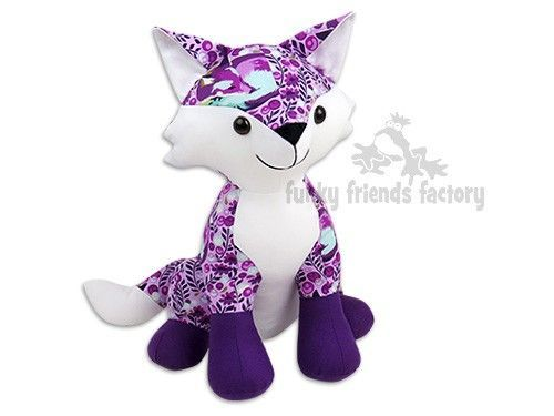Fox toy sewing pattern   How To Sew   Pinterest   Fox toys, Sewing ...