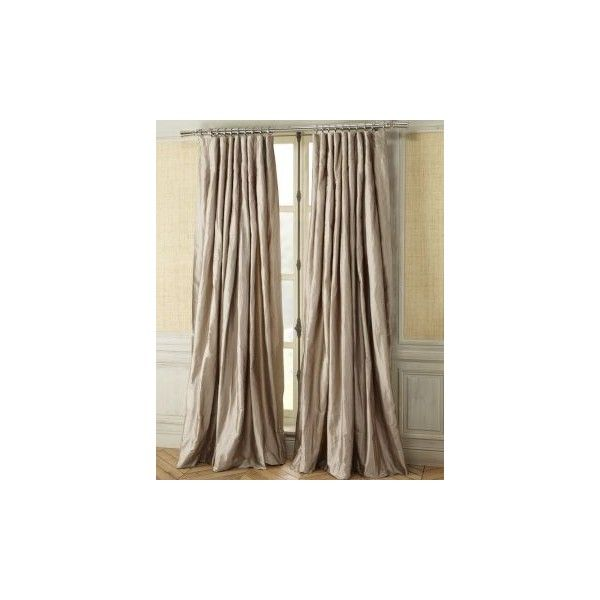 Williams Sonoma Home Solid Silk Inverted Pleat Drapes Found On