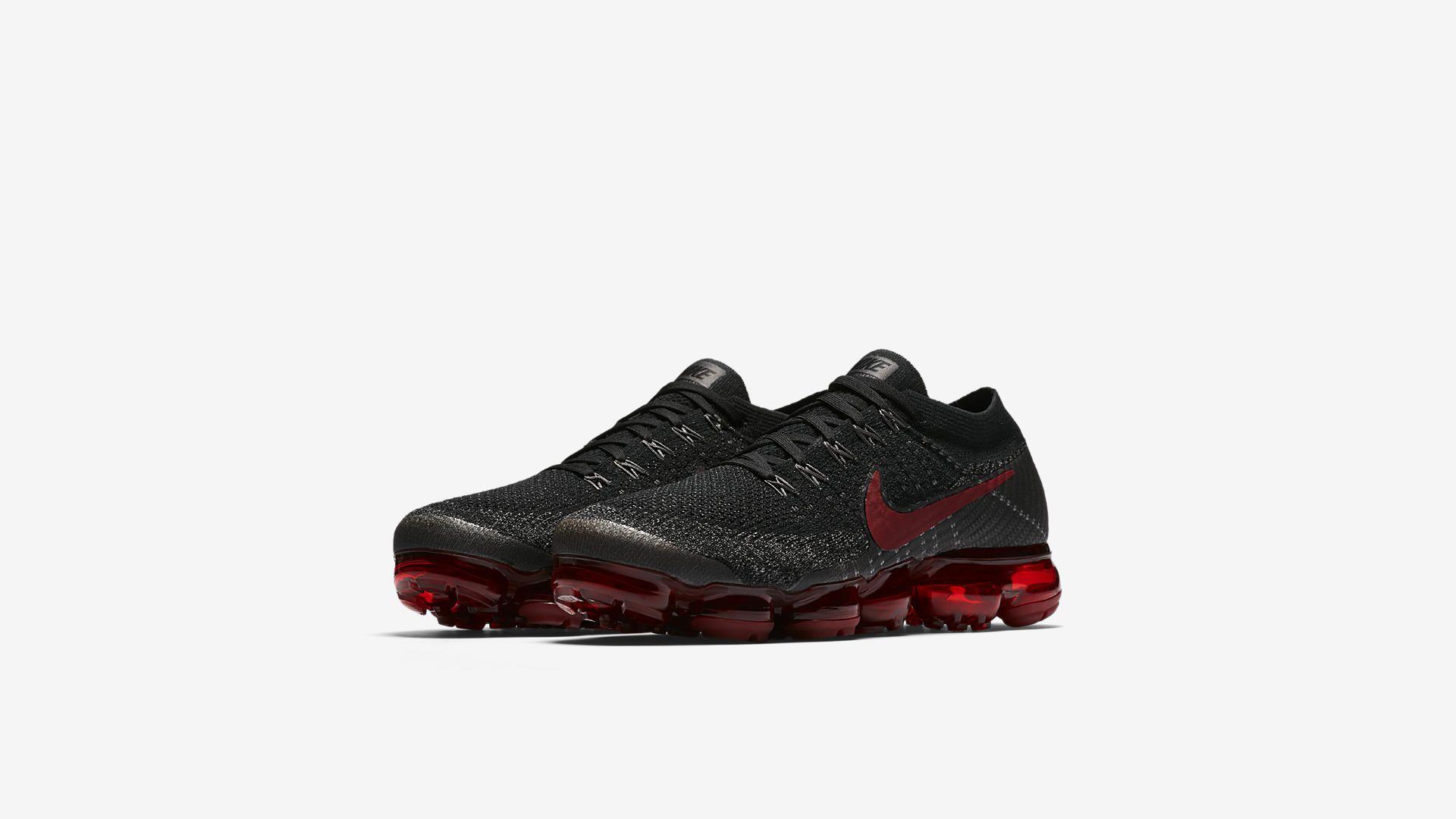759ca4d25388 Nike Air VaporMax Black   Dark Team Red