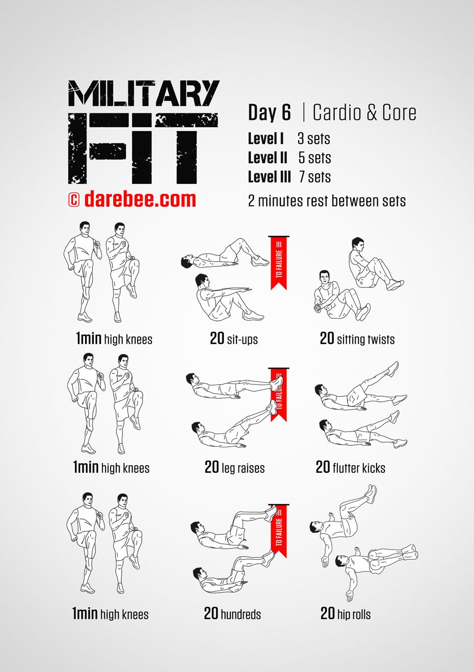 Military Fit: 30-Day Fitness Program | Diet/exercise | Pinterest ...