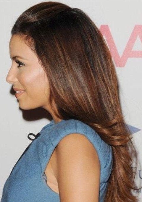 Eva Longoria Hairstyles Half Up Down Hairstyle