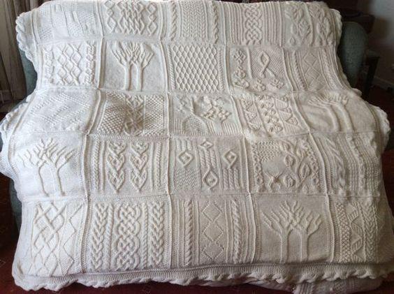 version of Tree of Life/Great American Aran Afghan   Irish knits ...